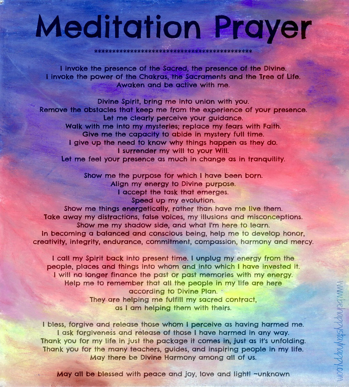 Awakening Meditation Prayer