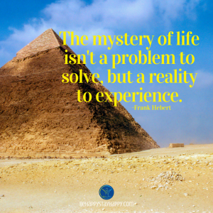 The mystery of life isn't a problem to solve, but a reality to experience.